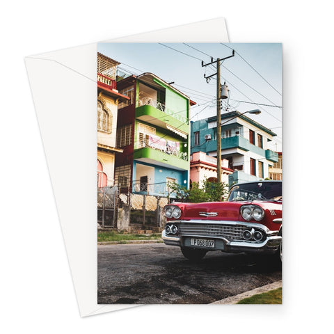 Cuba Original Car Greeting Card