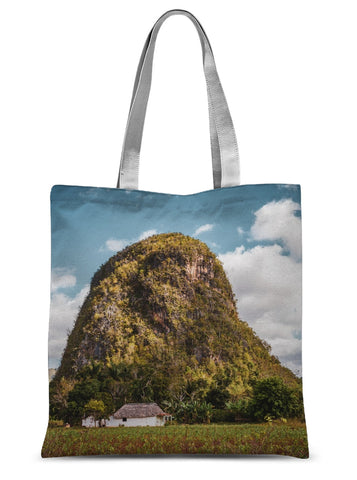 Cuba Back Country Mountain Sublimation Tote Bag
