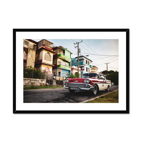Cuba Original Car Framed & Mounted Print