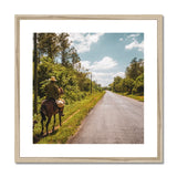 Cuba Original Road man Framed & Mounted Print