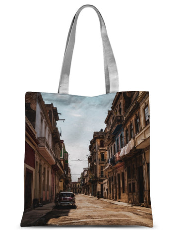 Cuba Sunny Street Sublimation Tote Bag