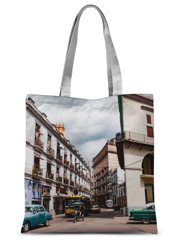Cuba Street Life Sublimation Tote Bag