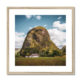 Cuba Back Country Mountain Framed & Mounted Print