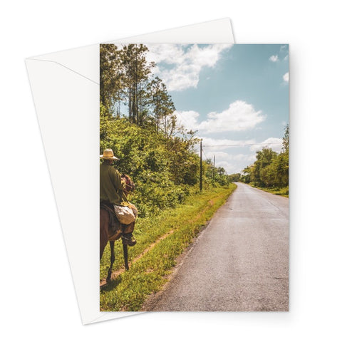 Cuba Original Road man Greeting Card