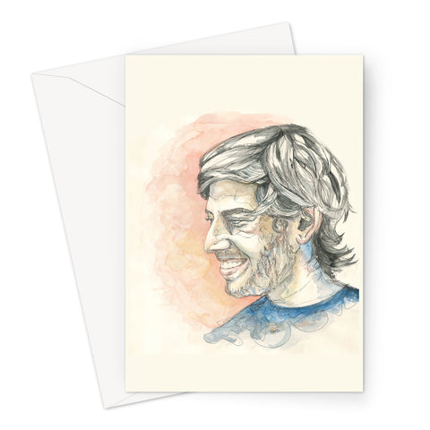 Aaron Swartz - Portrait by Fasto Greeting Card