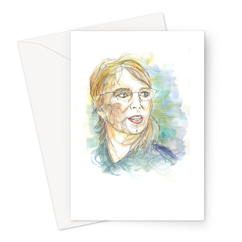 Chelsea Manning - Portrait by Fasto Greeting Card