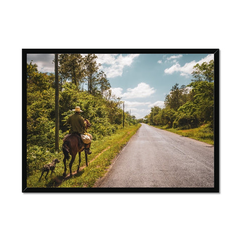 Cuba Original Road man Framed Print