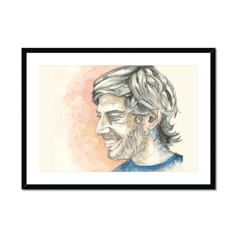 Aaron Swartz - Portrait by Fasto Framed & Mounted Print