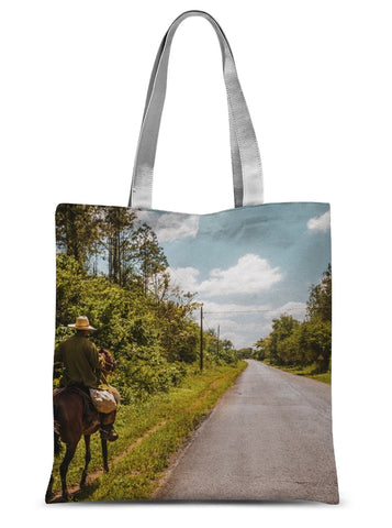 Cuba Original Road man Sublimation Tote Bag