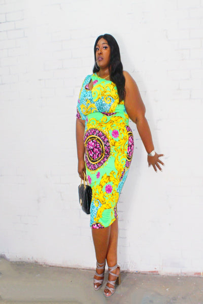 Plus Fantasy Flav Dress - Kutashe Amor