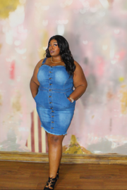 Dose Of Plus Denim Dress - Kutashe Amor