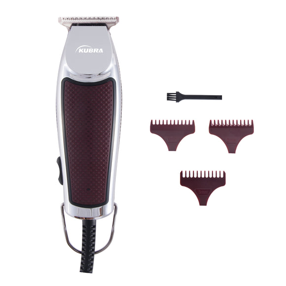 Kubra KB-2015 Professional Stainless Steel Hair and Beard Trimmer For Men (Red)