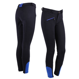 "QHP Breeches Junior ""Leather Seat"""
