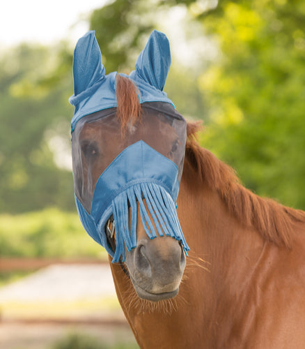 Waldhausen Fly Mask with Fringe over Nose