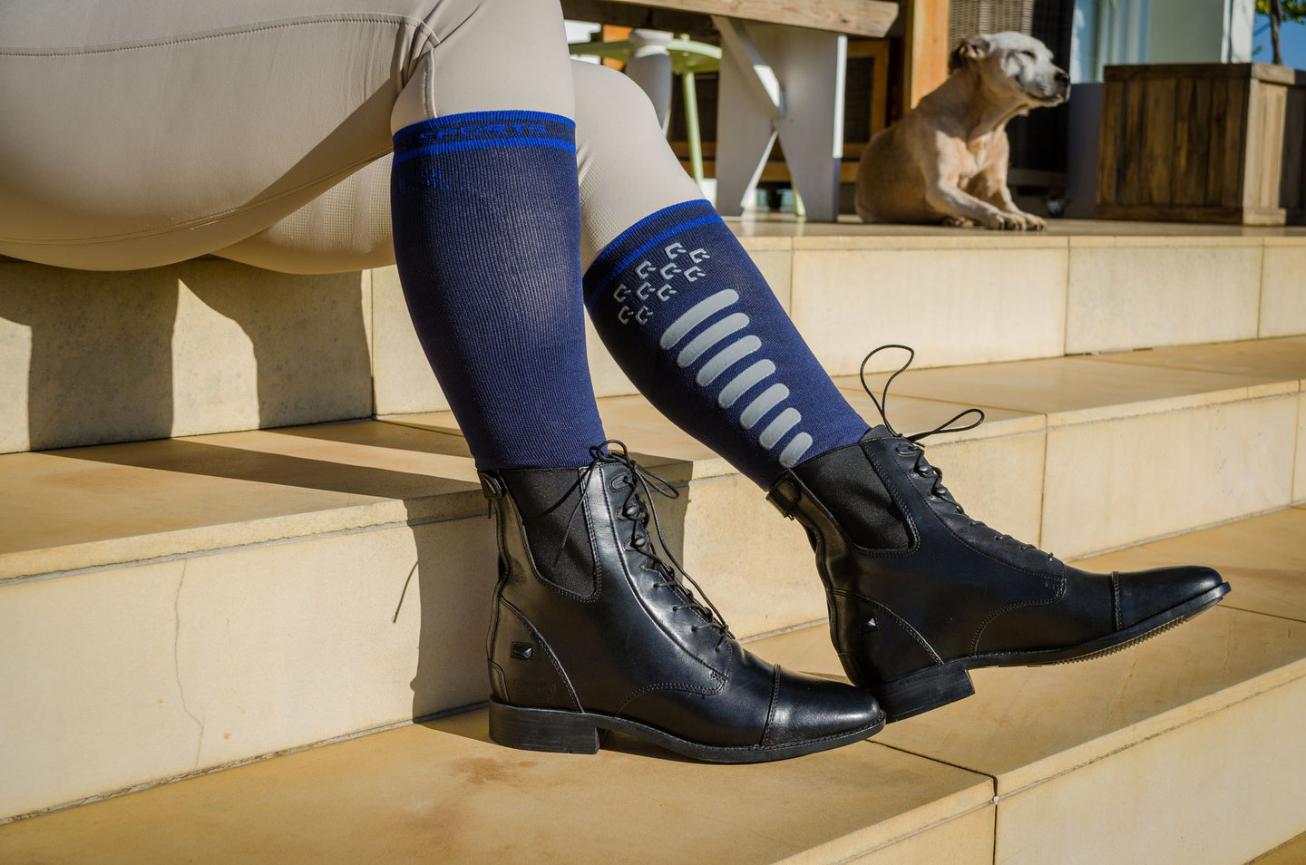QHP Riding Socks Super Grip