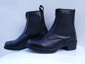 Saddle Up Front Zip Mesh Boots