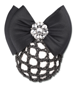 "Waldhausen hairnet with clip with double bow ""Bling"""