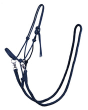 Load image into Gallery viewer, QHP Rope Halter with Rein