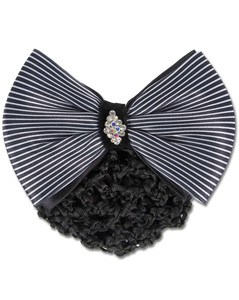 Waldhausen Hairnet with Clip and Striped Bow