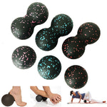 16*8CM EPP Fitness Ball Double Lacrosse Massage Ball