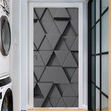 95x215cm Space Geometry Door Sticker Self Adhesive Waterproof