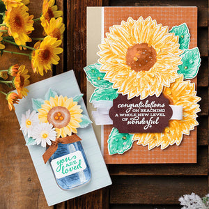 FLOWERS FOR EVERY SEASON  Cutting dies and stamps set