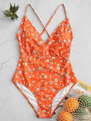 2020 New Wonder Woman Bathing Suit Neon Orange Bathing Suit Cup Size Swimwear One Piece Black And White