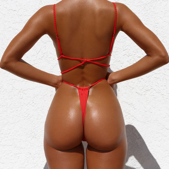 Sexy Pure Thong Swimwear