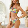 Two-Piece Print Sexy Halter Swimwear