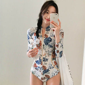 1800 Bathing Suits Fshion Long Sleeve Beach Wear Womens Cut Out Swimsuit Mahi Beachwear Bikini Poses Swimwear