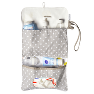 Organizer for Diapers, Nappies & Wipes, Waterproof Dry & Wet Bag for Hand use or Buggy/Pram, Baby Animals