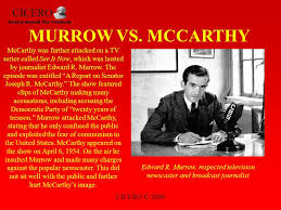 Murrow, Shakespeare, Cassius, McCarthy, politics
