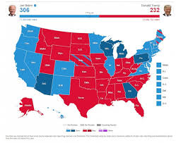 2020 election map, Trump ousted
