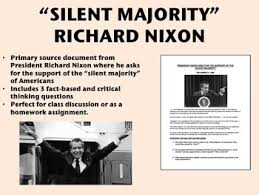 RichardNixon, Silent majority Speech
