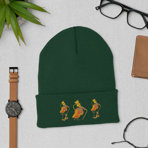 E. P. Lee, and the puppy howls collections all, BIG DADDY FLAMINGO BAND Embroidered  Cuffed beanie,  BIG DADDY COLLECTION, FLAMINGO-FAMILY COLLECTION