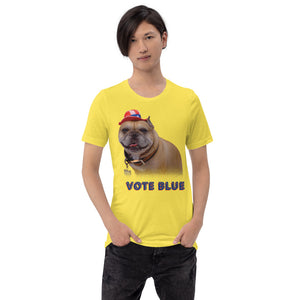 WHATEVER YOU DO VOTE BLUE Short-Sleeve Unisex T-Shirt