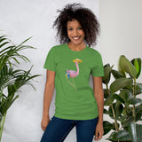 E. P. Lee, and the puppy howls collections all, BIG DADDY FLAMINGO SUR LA PLAGE Unisex T-Shirt, Big Daddy Collection, Family-Flamingo collection