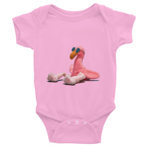 "E. P. Lee, and the puppy howls collections all, BIG DADDY FLAMINGO JR. ""CATCHING RAYS"" Onesie, Big Daddy Collection, Family-Flamingo collection"