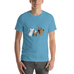E. P. Lee, and the puppy howls collections all, PUPPIES Youth Unisex Short Sleeve (8-12) T-Shirt, Freud & Friends collection