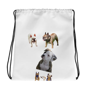 TO THE DOGS Drawstring Bag