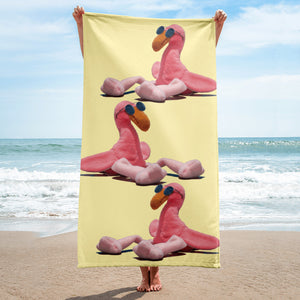 E. P. Lee, and the puppy howls collections all, LITTLE DADDY FLAMINGO SUR LA PLAGE Beach Towel , BIG DADDY COLLECTION, FAMILY-FLAMINGO collection