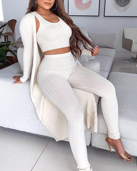 Ribbed 3-Piece Lounge Set