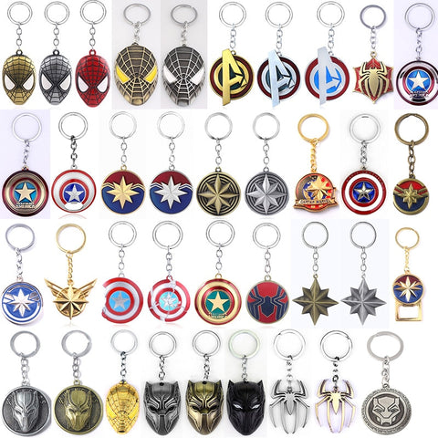 Marvel 45 Keychains The Avengers Captain America Iron Man Thor Black Panther The Hulk Keyring Marvel Fans Jewelry Best Gift