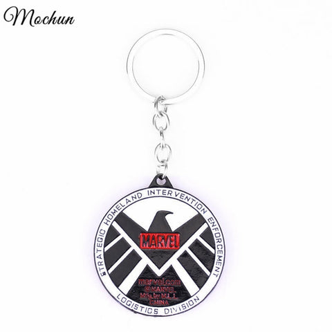 Agents of SHIELD Keychain Marvel Hot TV Play Logo Carving Avengers Accessories Key Ring Men Boy Super Hero Gift Hot Sale