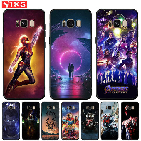 Avengers Starry Sky Case For Samsung Galaxy S10e S10 S9 S8 Plus Note 8 9 S7 Edge Black Silicone Cover Thanos Captain Marvel Etui