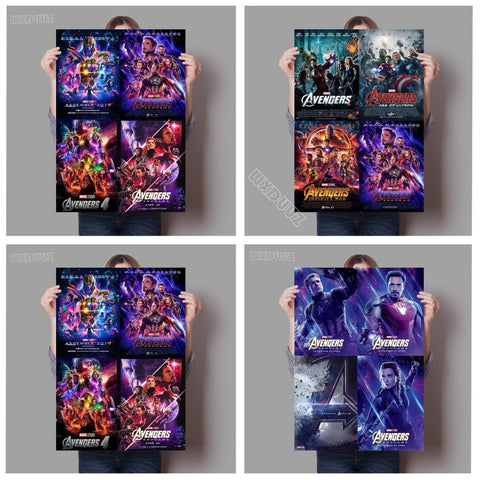 Avengers: Endgame Marvel Movies Popular new superhero movie art deco poster home decor 4 and 1 Nursery Kids Room canvas painting