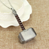 Thor Hammer Necklace Avengers Dark World Necklace Mjolnir Pendant Necklace Men Jewelry Fans Accessories Factory wholesale