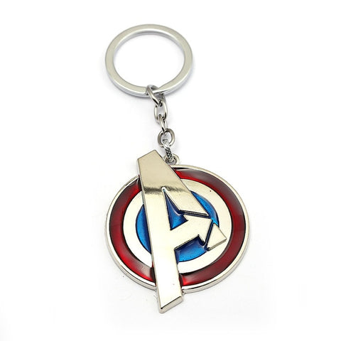 The Avengers Keychain Letter A Captain America Shield Pendant Metal Key Ring porte clef Car Key Chain sleutelhanger Men Jewelry
