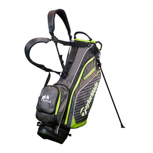 TaylorMade Pro 6.0 FatPlate Logo Stand Bag - Charcoal/Black/Green