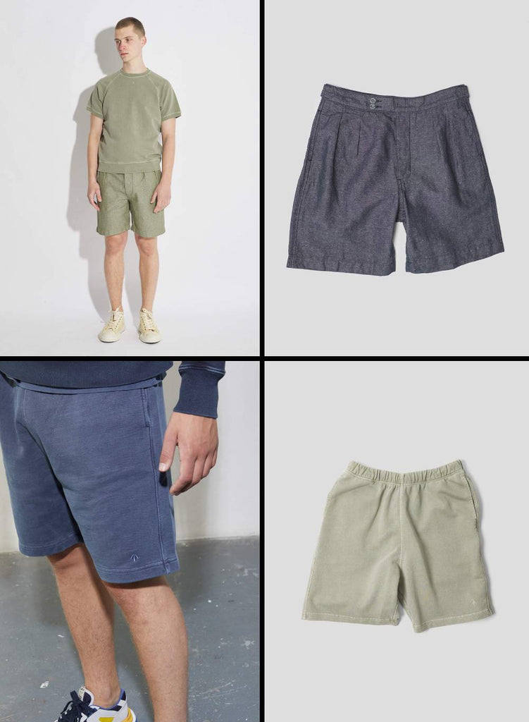 Nigel Cabourn Pleated Shorts and Jogging Shorts